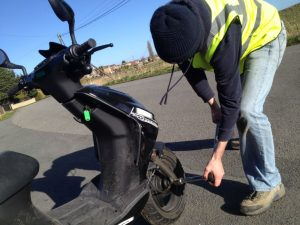 Mototyres 2 u Moped Scooter puncture repair in Grantham, Lincolnshire.