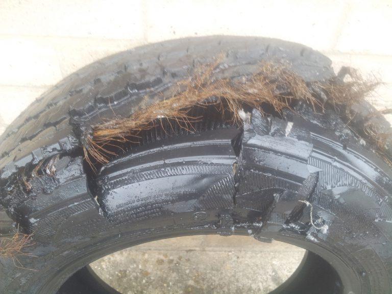 Mototyres 2 u Caravan blowout damaged tyre