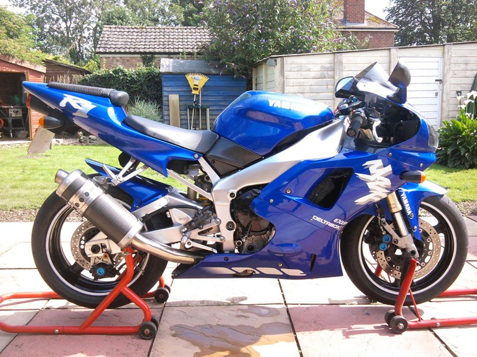 Motorcycle tyres fitted using motorbike stand and wheel removal by Mototyres 2 u