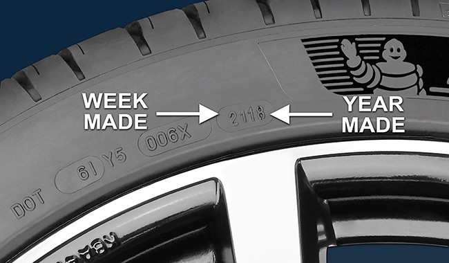 Instructions to identify tyre age for mobile caravan tyre fitting